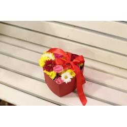 Коробка с цветами.
