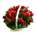 корзинка 25 роз