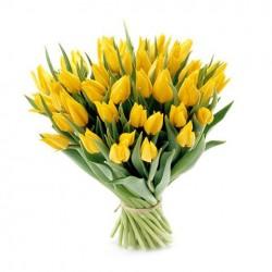 Желтые тюльпаны.